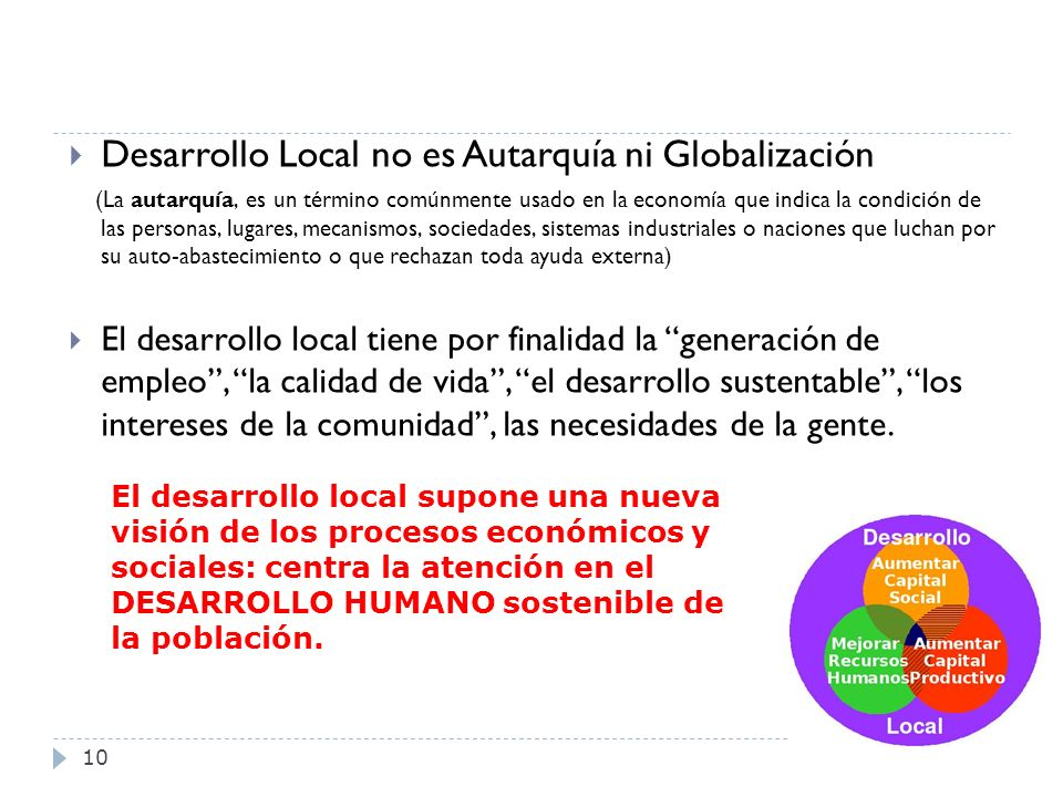 Desarrollo Local no es Autarquía ni Globalización