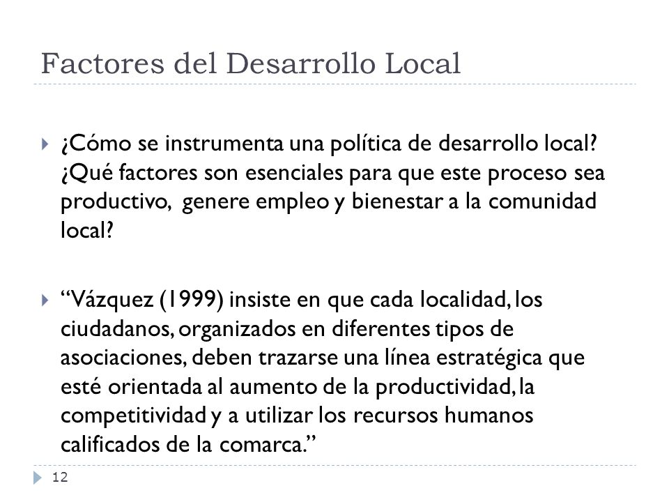 Factores del Desarrollo Local
