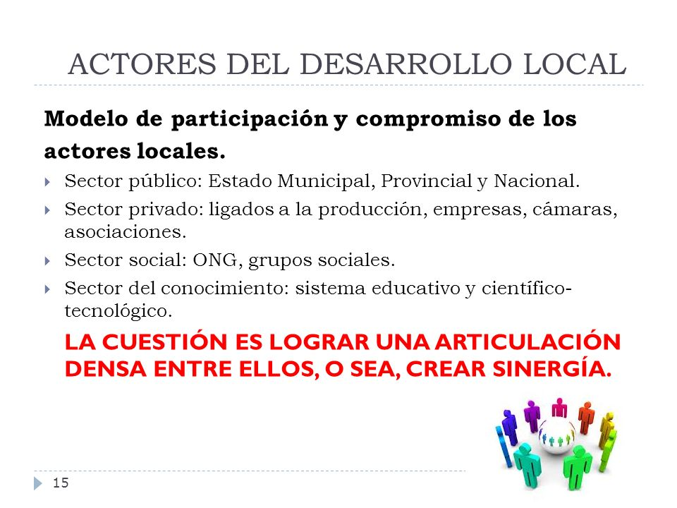ACTORES DEL DESARROLLO LOCAL