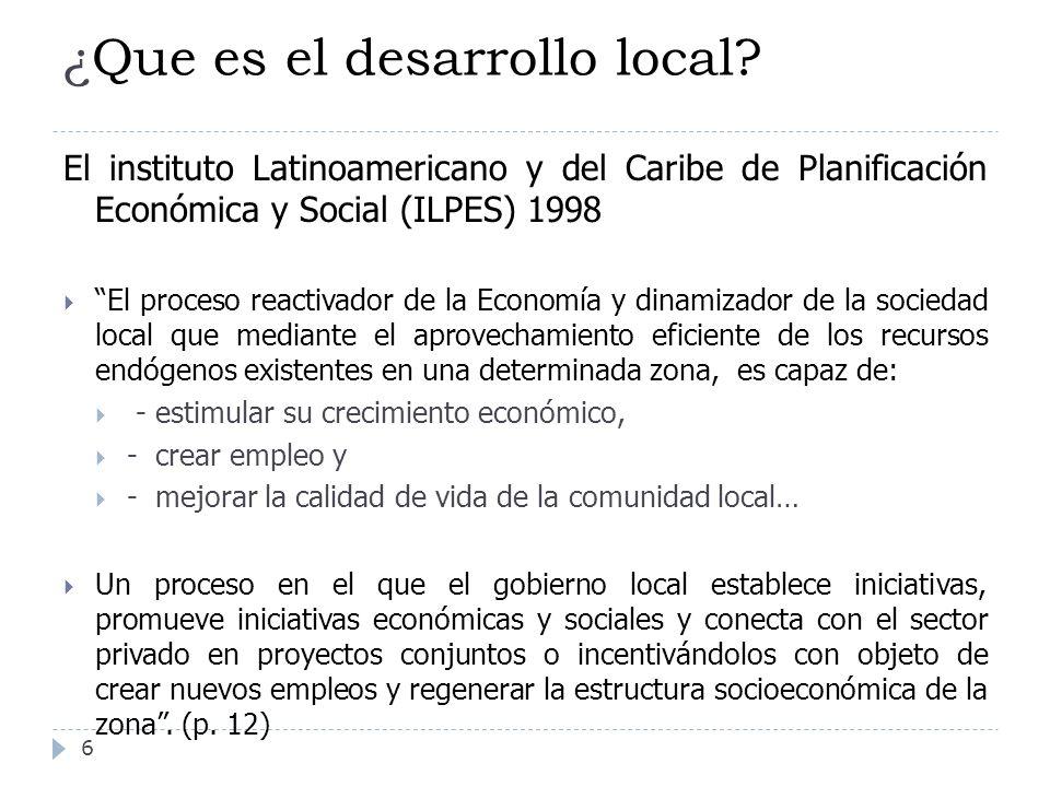 ¿Que es el desarrollo local