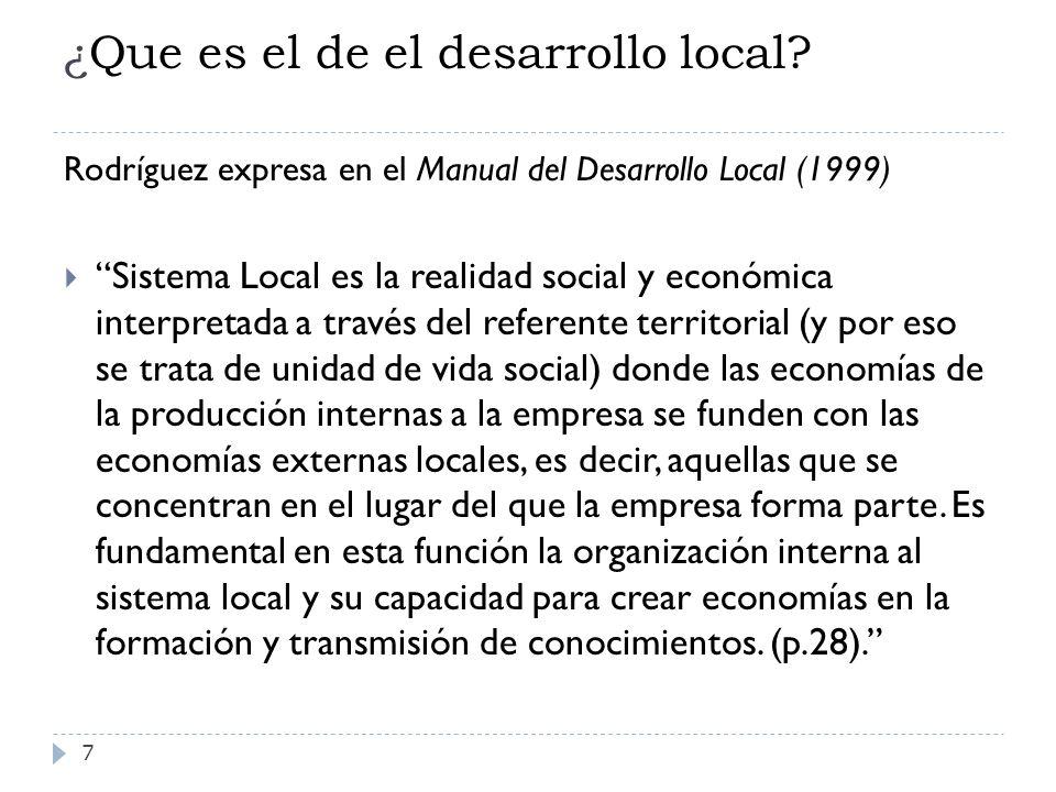 ¿Que es el de el desarrollo local