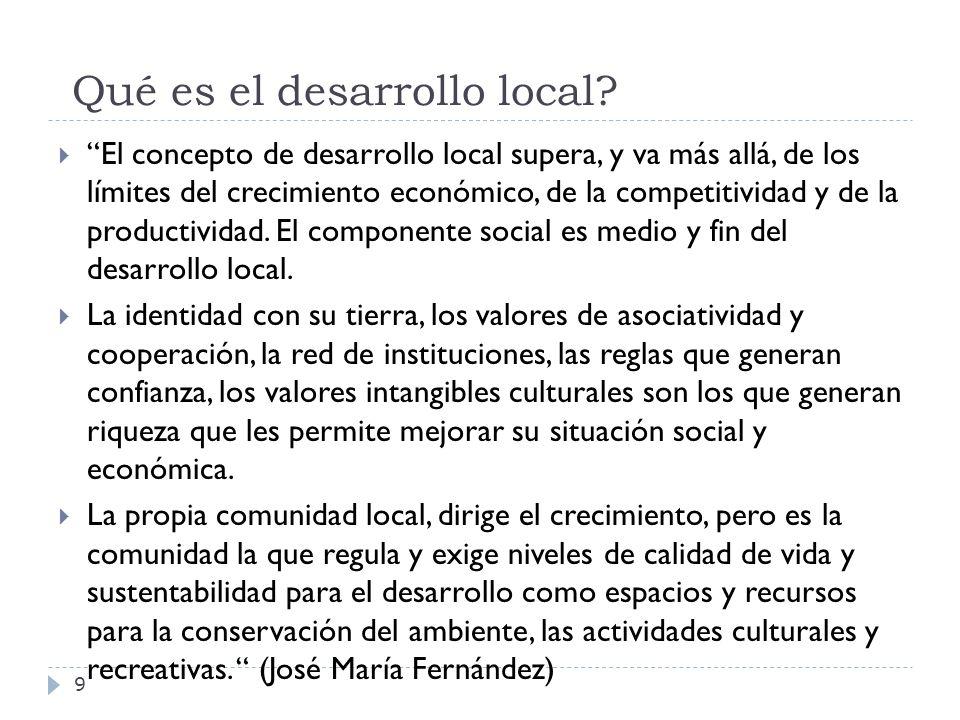 Qué es el desarrollo local
