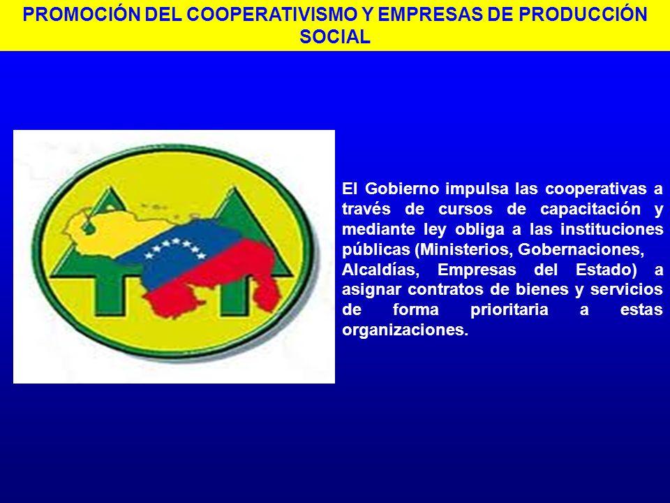 PROMOCIÓN DEL COOPERATIVISMO Y EMPRESAS DE PRODUCCIÓN SOCIAL