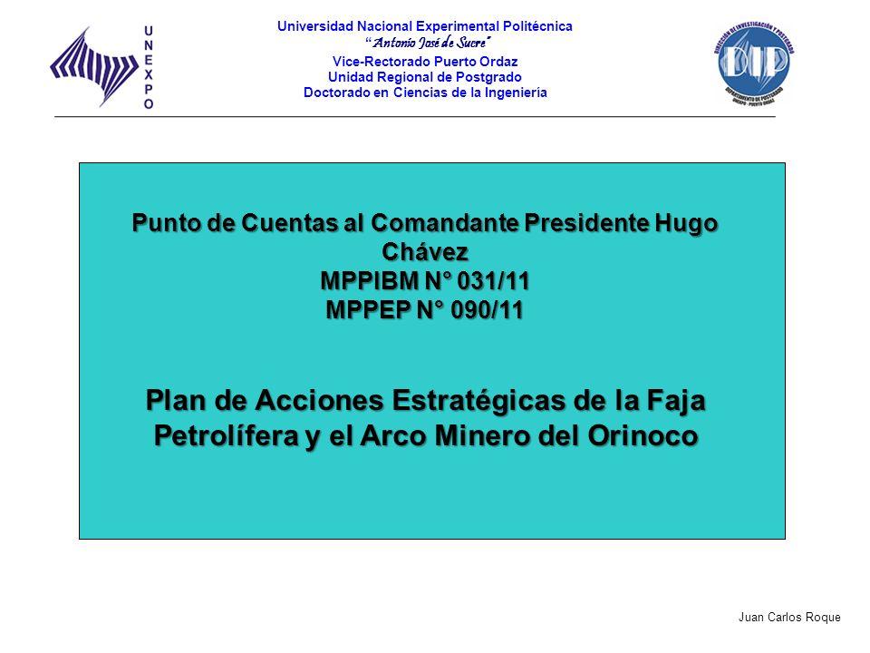 Punto de Cuentas al Comandante Presidente Hugo Chávez