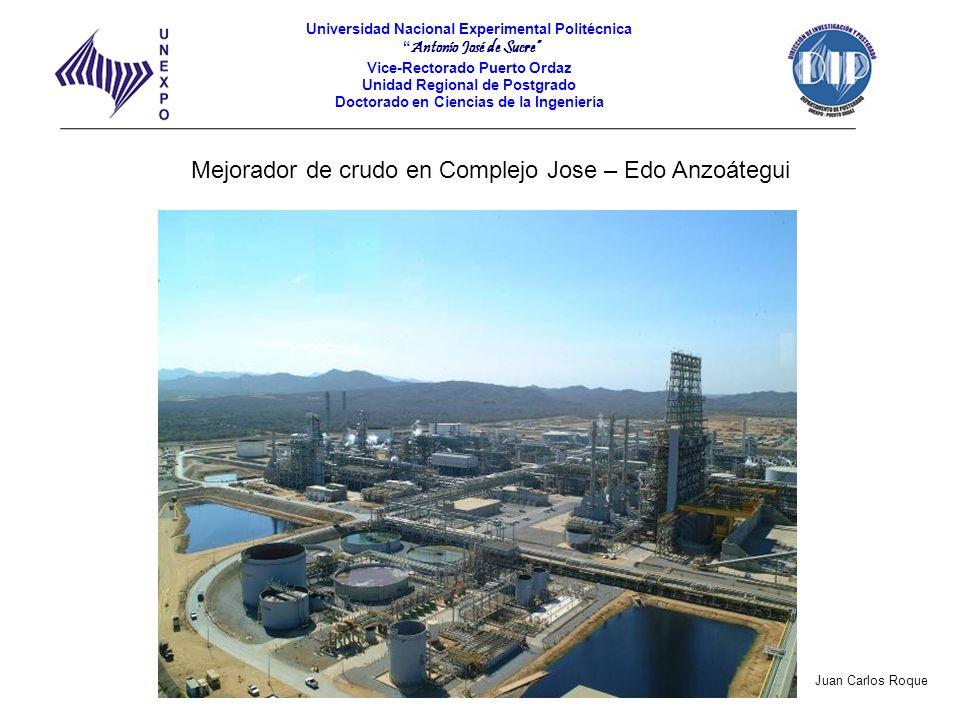 Mejorador de crudo en Complejo Jose – Edo Anzoátegui