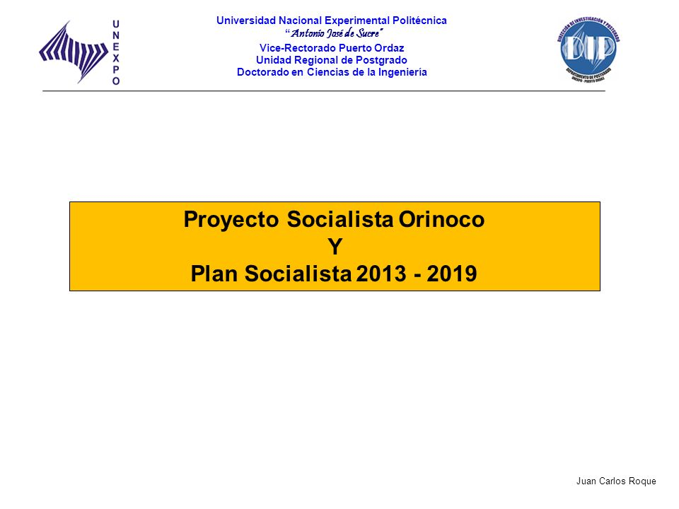 Proyecto Socialista Orinoco