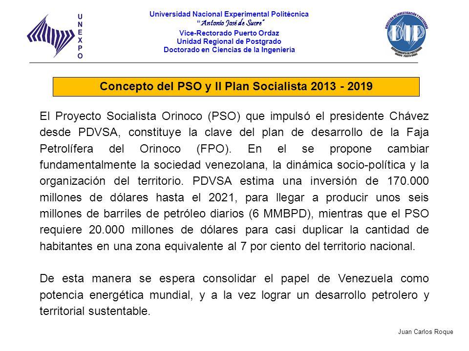 Concepto del PSO y II Plan Socialista 2013 - 2019