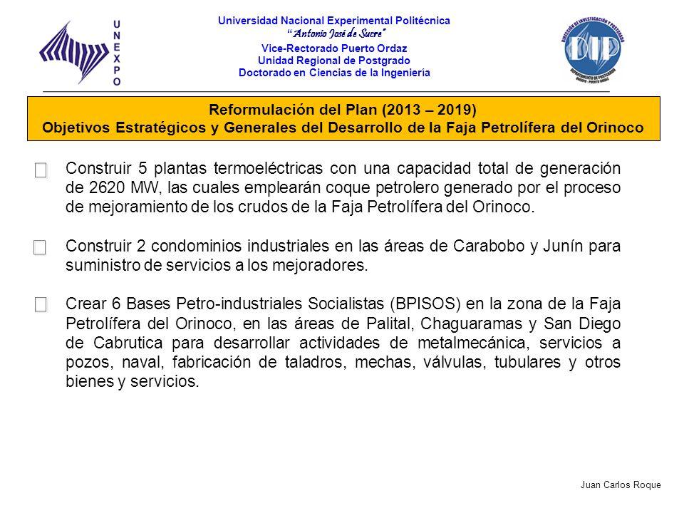 Reformulación del Plan (2013 – 2019)