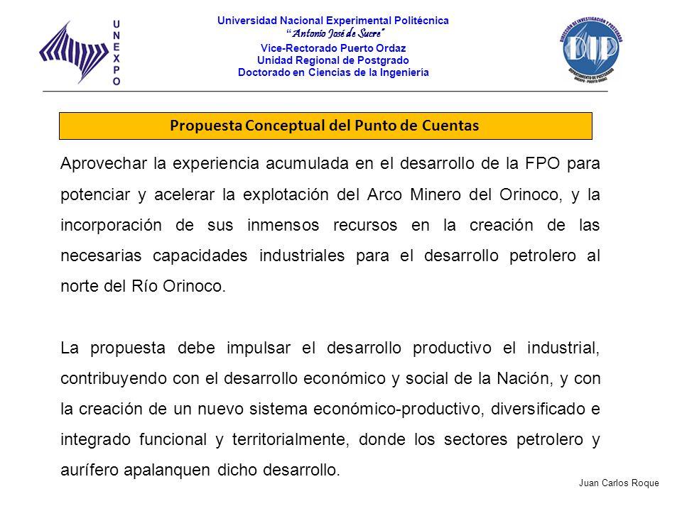 Propuesta Conceptual del Punto de Cuentas