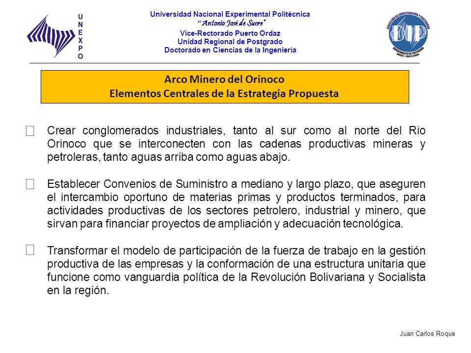 Arco Minero del Orinoco Elementos Centrales de la Estrategia Propuesta