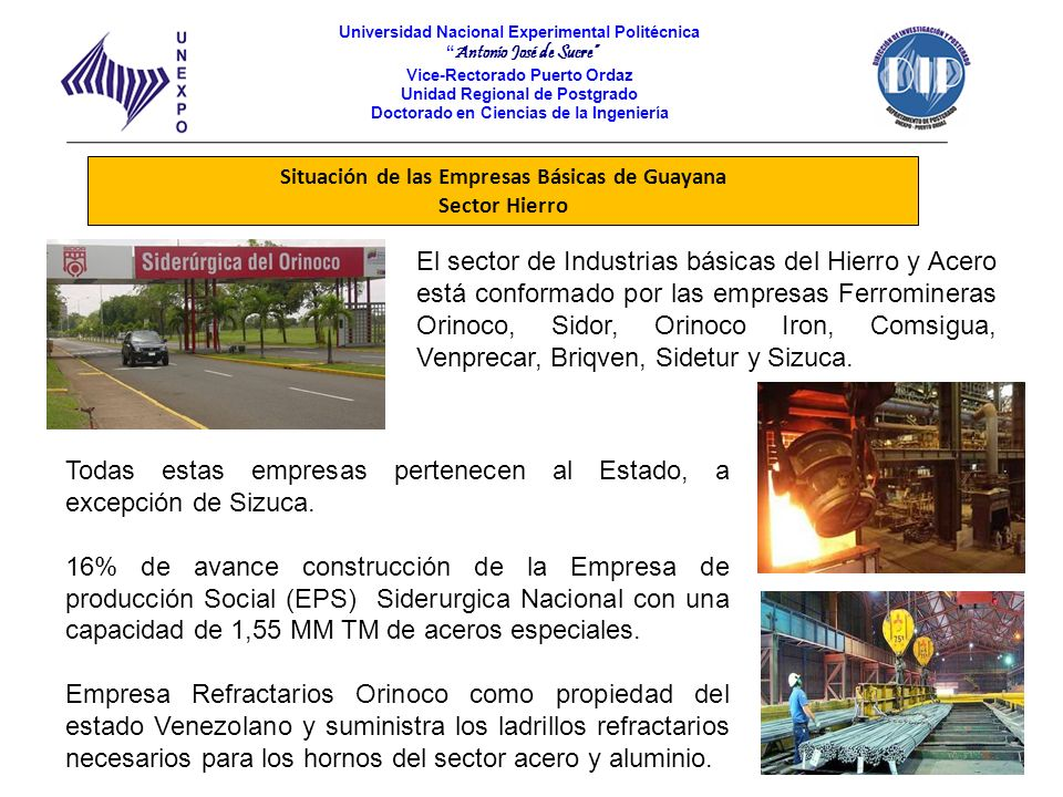 Situación de las Empresas Básicas de Guayana