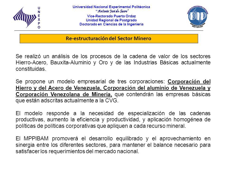 Re-estructuración del Sector Minero