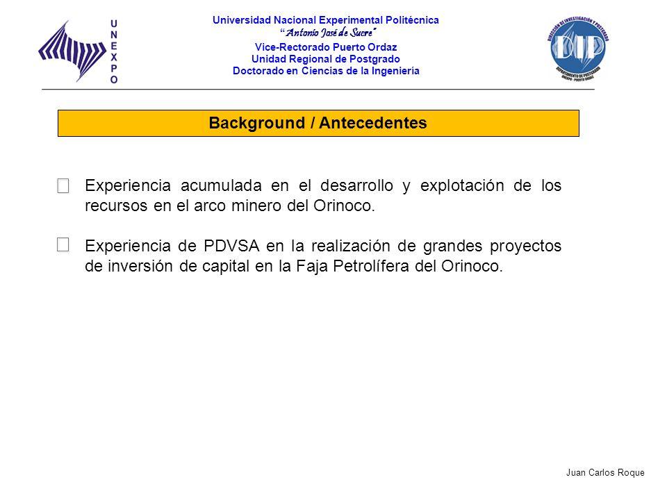 Background / Antecedentes