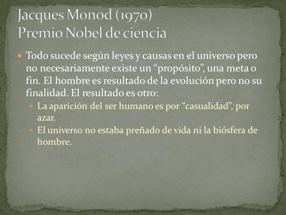 Jacques Monod (1970) Premio Nobel de ciencia