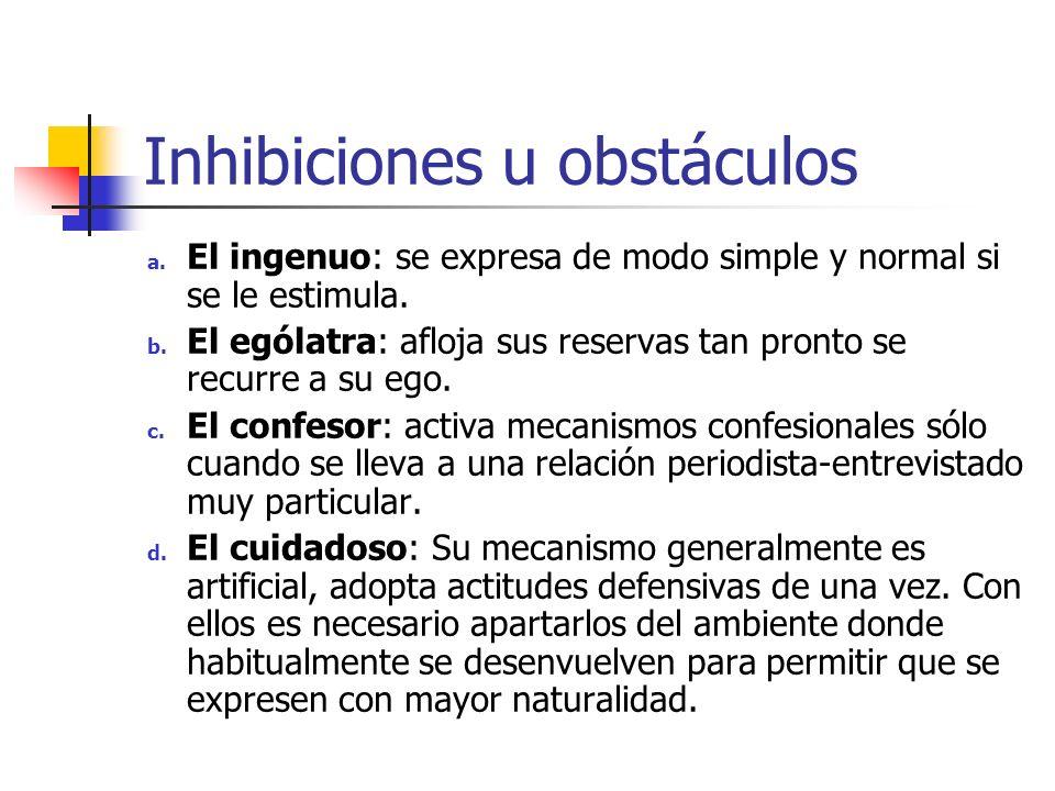 Inhibiciones u obstáculos