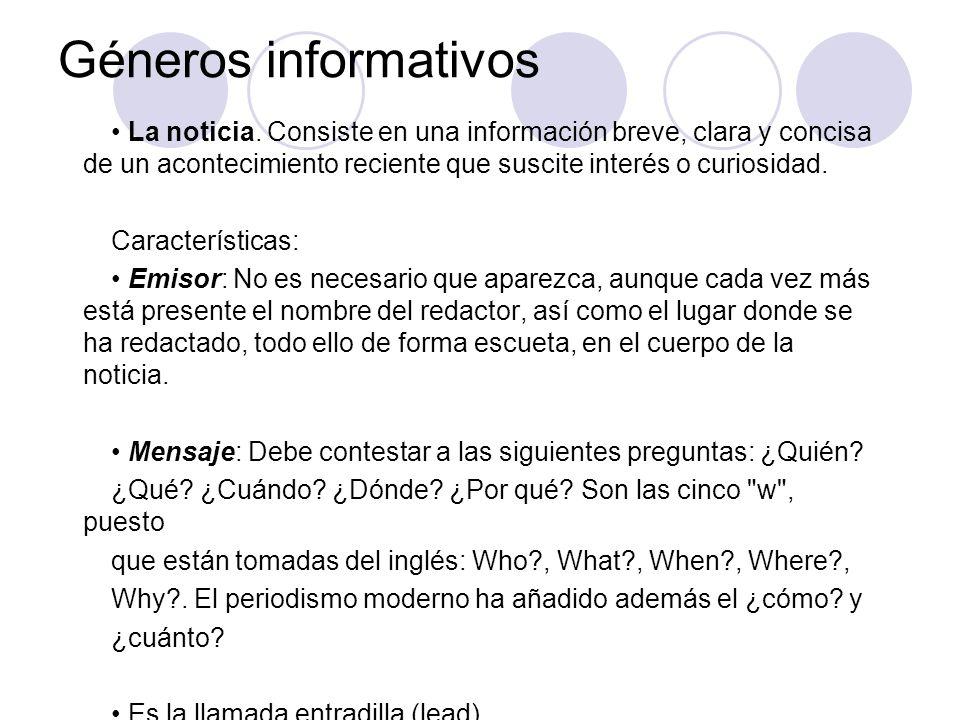 Géneros informativos