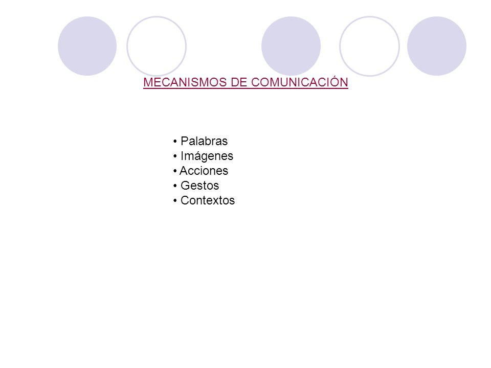 MECANISMOS DE COMUNICACIÓN