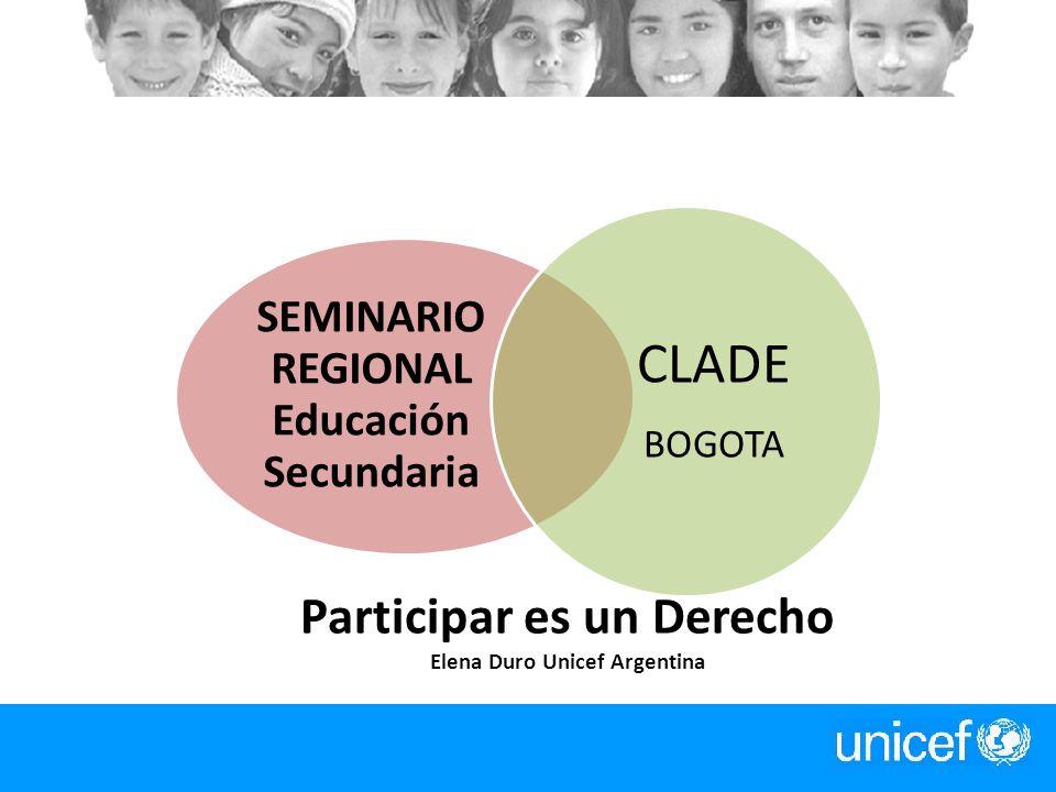 Participar es un Derecho Elena Duro Unicef Argentina