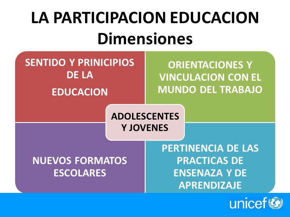 LA PARTICIPACION EDUCACION Dimensiones