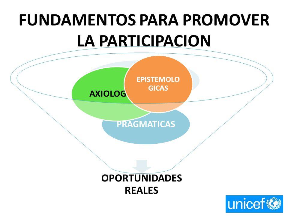 FUNDAMENTOS PARA PROMOVER LA PARTICIPACION