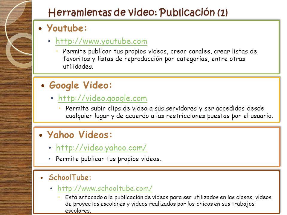 Herramientas de video: Publicación (1)