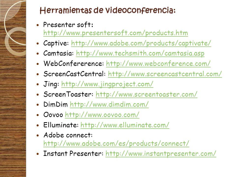 Herramientas de videoconferencia:
