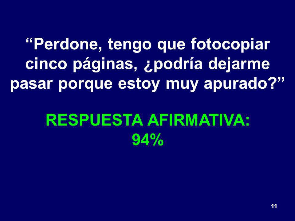 RESPUESTA AFIRMATIVA: 94%