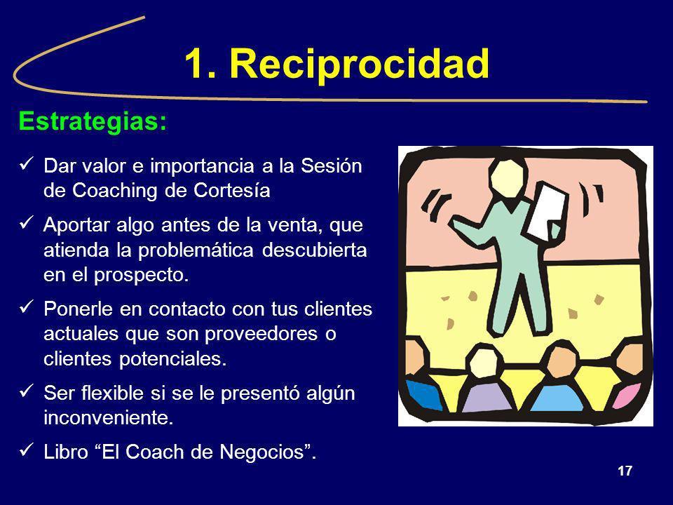 1. Reciprocidad Estrategias: