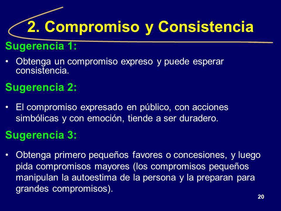 2. Compromiso y Consistencia