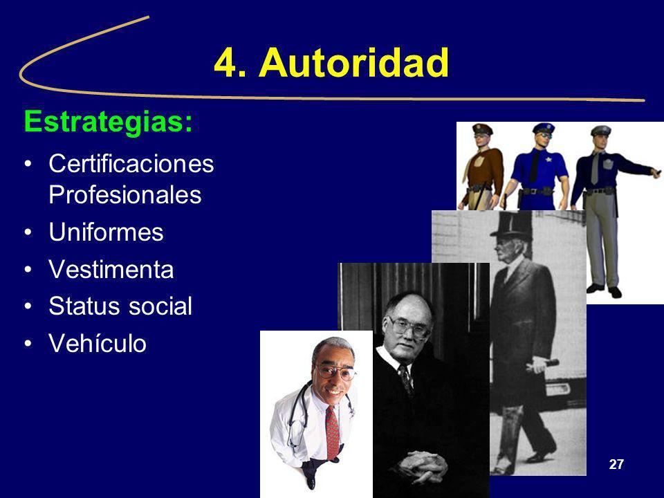 4. Autoridad Estrategias: Certificaciones Profesionales Uniformes
