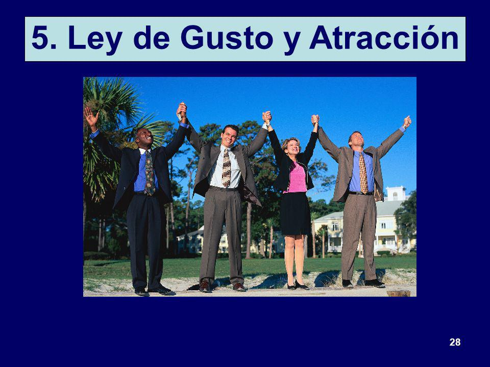 5. Ley de Gusto y Atracción