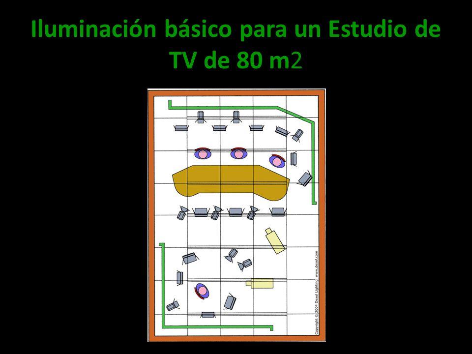 Iluminación básico para un Estudio de TV de 80 m2