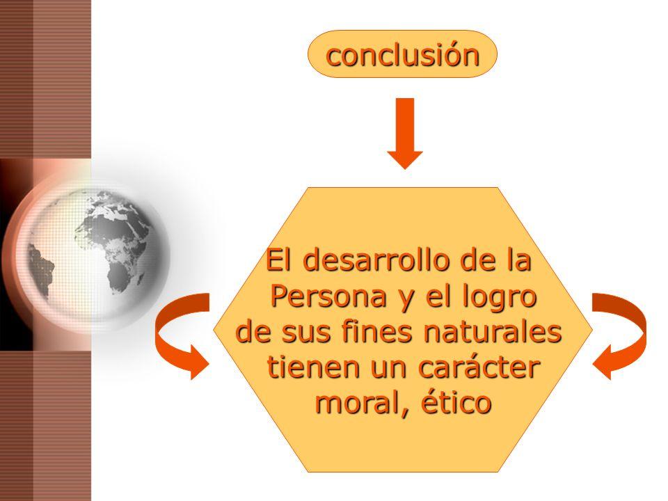 conclusión El desarrollo de la. Persona y el logro.