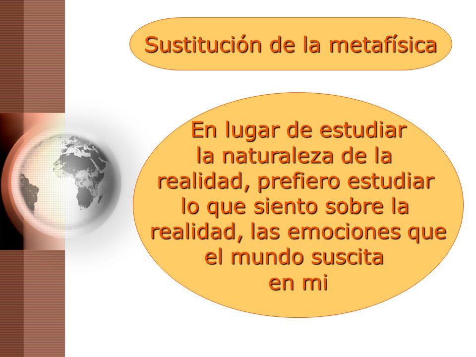 Sustitución de la metafísica