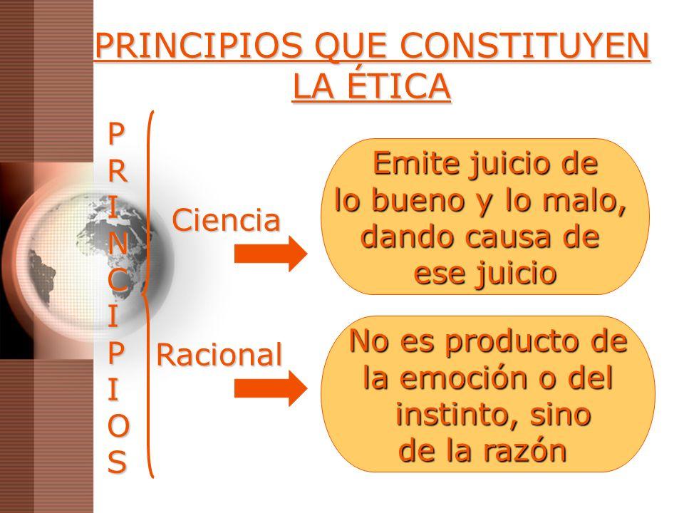 PRINCIPIOS QUE CONSTITUYEN