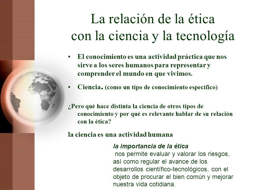 La relación de la ética con la ciencia y la tecnología
