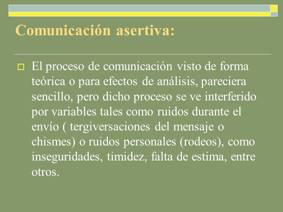 Comunicación asertiva: