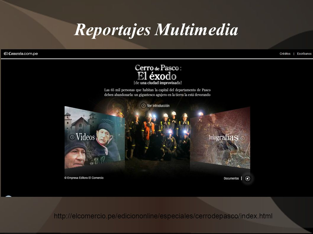 Reportajes Multimedia