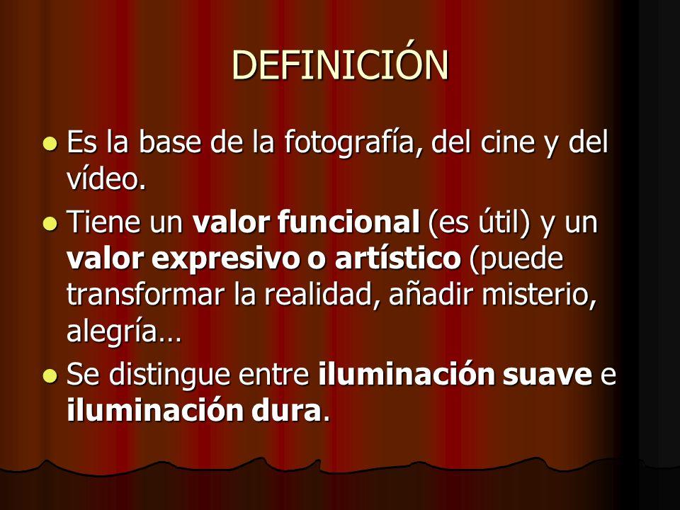 DEFINICIÓN Es la base de la fotografía, del cine y del vídeo.