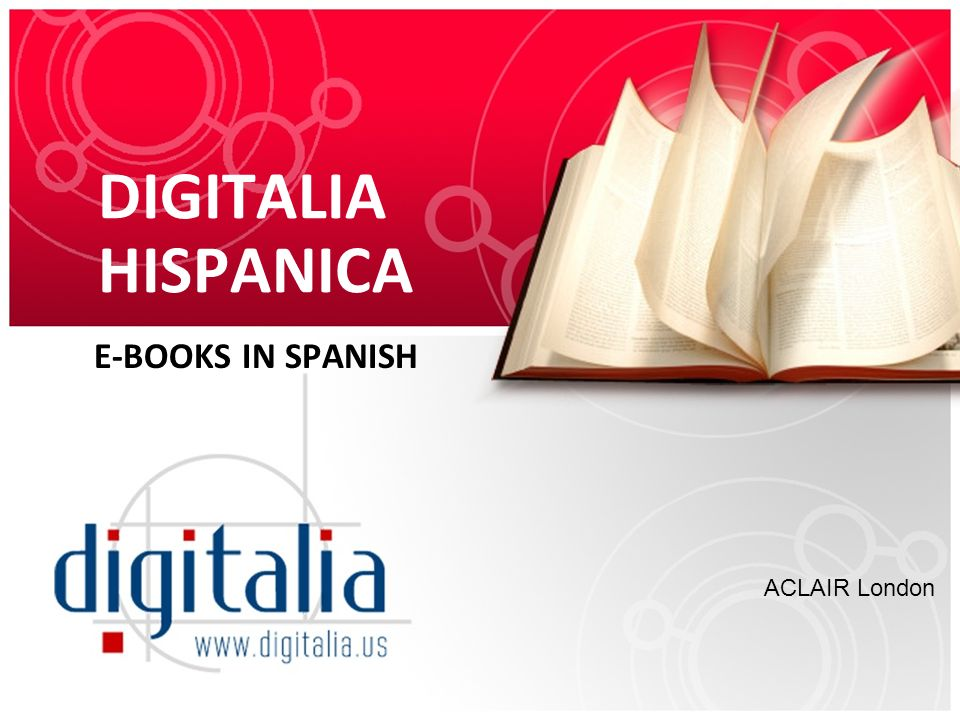DIGITALIA HISPANICA E-BOOKS IN SPANISH ACLAIR London