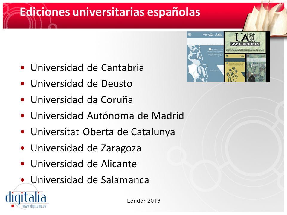 Ediciones universitarias españolas
