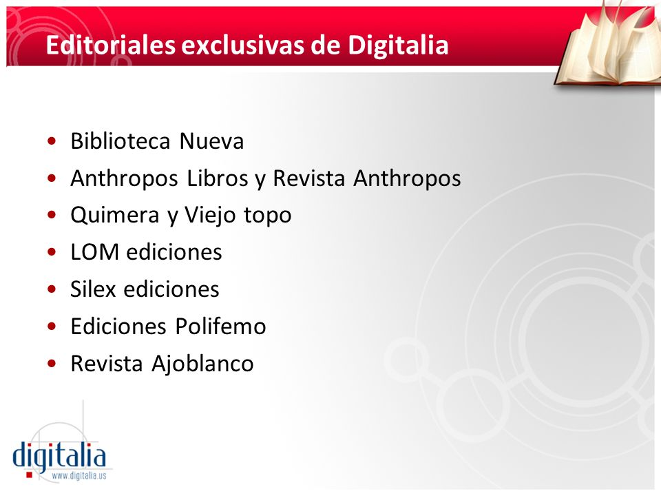 Editoriales exclusivas de Digitalia