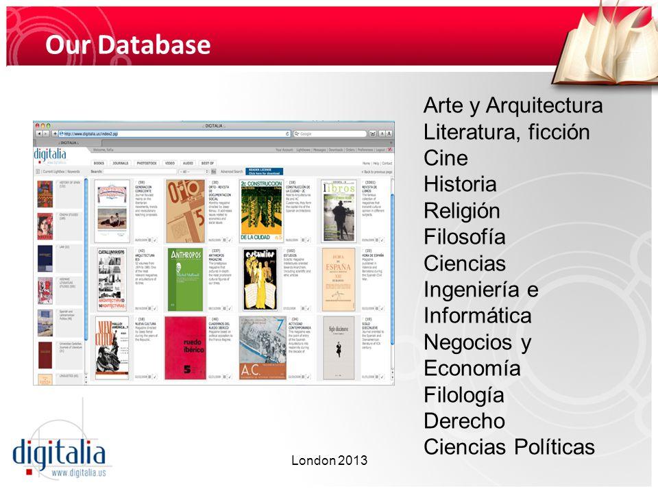 Our Database Arte y Arquitectura Literatura, ficción Cine Historia