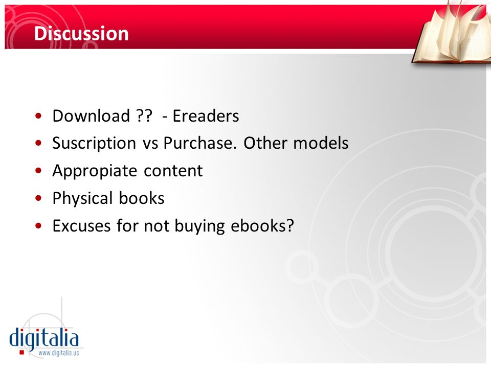 Discussion Download - Ereaders
