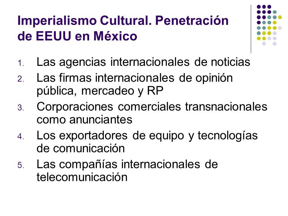 Imperialismo Cultural. Penetración de EEUU en México