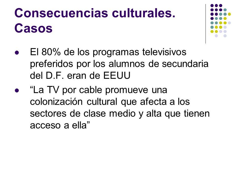 Consecuencias culturales. Casos