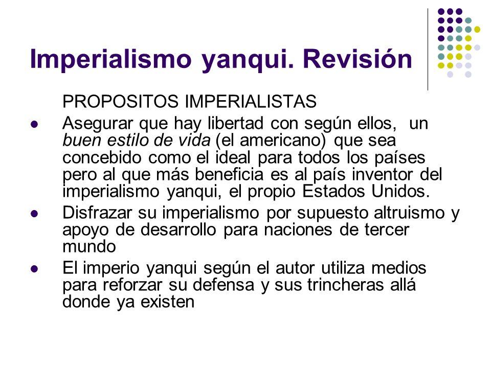 Imperialismo yanqui. Revisión