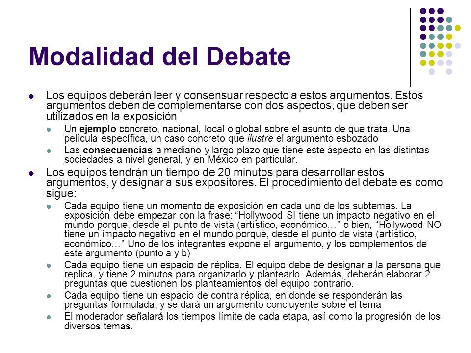 Modalidad del Debate