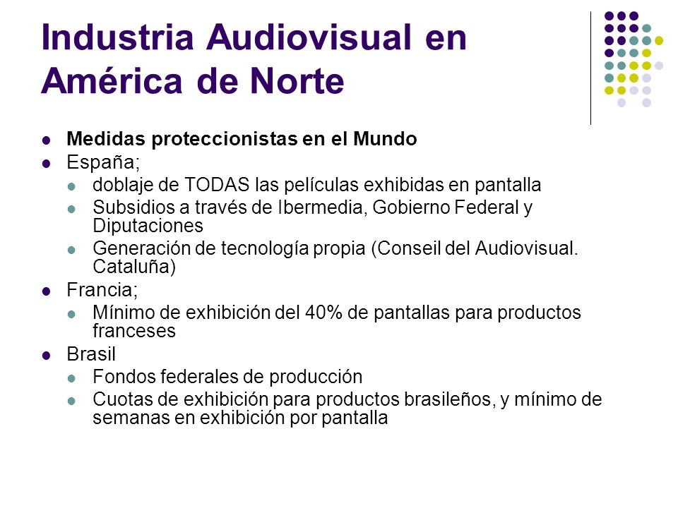 Industria Audiovisual en América de Norte