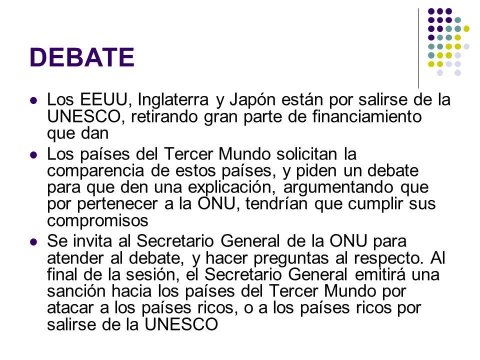 DEBATE Los EEUU, Inglaterra y Japón están por salirse de la UNESCO, retirando gran parte de financiamiento que dan.